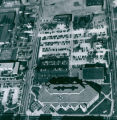 Aerial Photograph of Bierce Library, 1973