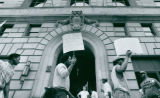 Black Community Entrepreneurs March at City Hall, 1989
