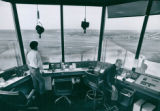 Interior of the new Control Tower for Akron Municipal Airport, 1974