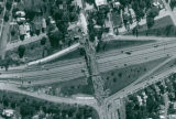 Aerial Photograph of the Perkins Street Bridge Construction, 1986