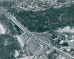 Aerial Photograph of the High Level Bridge in Akron, 1950