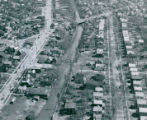 Aerial Photograph of Rhodes and Thornton, where new bridge will be built, 1950