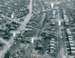 Aerial Photograph of the Traffic Congestion in South Akron, 1950