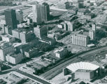 Aerial Photograph looking Northwest over S Broadway, Akron, Ohio, 1980