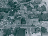 Aerial View of S. Main and S. High Streets, Akron, Ohio, 1962