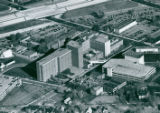 Aerial photograph of Akron General Medical Center, 1981