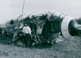 Wreckage of  McDonnell Douglas DC-9 at Akron-Canton Airport November 27, 1973