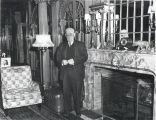 Arthur O.  Austin in the Living Room/Library