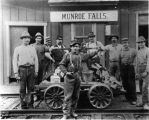 Workers in front of Monroe Falls railroad depot.