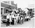 Martin Luther King Center Youth on Fire Engine