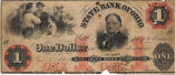 State Bank of Ohio, $1 Bank Note
