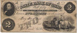 State Bank of Ohio, Summit County Branch $2 Bank Note
