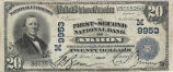 First-Second National Bank, $20 Note