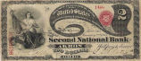 Second National Bank, $2 Bank Note