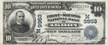 First-Second National Bank, $10 Note