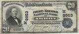 First-Second National Bank of Akron, $20 Note