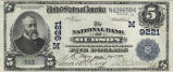 National Bank of Hudson, $5 Note