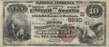 First National Bank of Barberton, $10 Bank Note