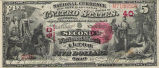 Second National Bank, $5 Bank Note