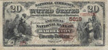 American National Bank of Barberton, $20 Bank Note