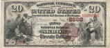 First National Bank of Akron, $20 Bank Note