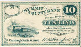 ¢10 Summit County Bank Note