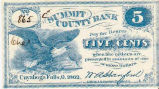 ¢5 Summit County Bank Note