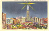 Cleveland-Public Square and Union Terminal Tower at Night