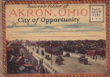 Souvenir Folder of Akron, Ohio