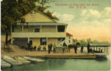 Pavilion at Long Lake near Akron, Ohio U.S.A.