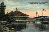 Pavilion, Dining Hall and Boat Landing, Silver Lake near Akron, Ohio.
