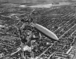 Airship - U.S.S. Akron over the Goodyear plant