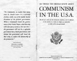 "Pamphlet - ""100 Things You Should Know About Communism in the U.S.A."""