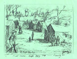 Field Sketch - Bedford Gypsy Camp