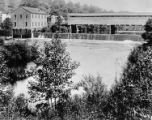 Mill and Covered Bridge