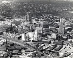 Aerial view of downtown Akron, Ohio