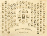 The class photograph from the 1941 St. Vincent High School graduating class